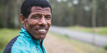 One of the greatest distance runners in history, Haile Gebrselassie,